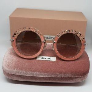 52f737141c70 Miu Miu Accessories - Miu Miu Sunglasses Pink Frame Embellished Stones